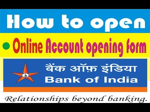 How to apply Online saving account of Bank of India in Hindi