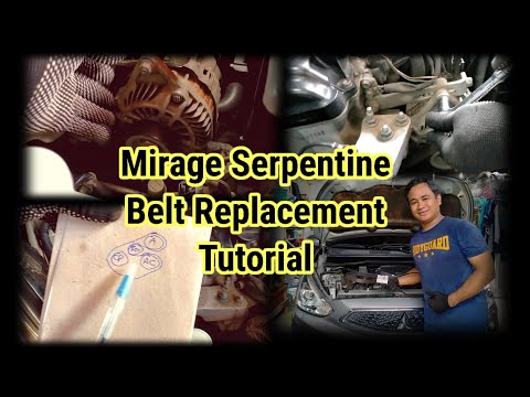 Mitsubishi Mirage Serpentine Belt Replacement Tutorial │ Do It Yourself │ No More Belt Noise