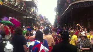 Fat Tuesday Parade in New Orleans during Mardi Gras