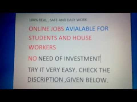 ONLINE JOB FOR STUDENT 2013