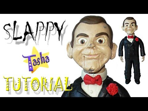 Кукла Слэппи Ужастики из пластилина Туториал Slappy Goosebumps From Plasticine Tutorial