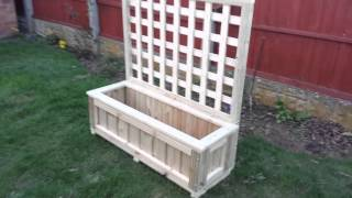 Planter Trough With Trellis