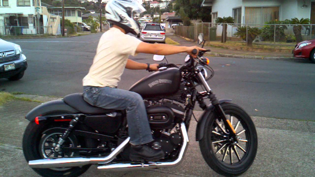 First Ride On My Harley Davidson Iron 883 Youtube
