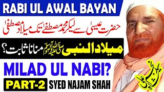 Najam Shah Latest Bayan 2020 l Rabi ul Awal Bayan l Eid Milad un Nabi l Syed Najam Ali Shah l Part 2