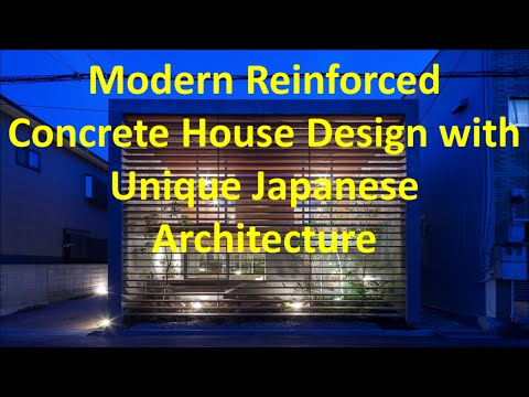 Modern Reinforced Concrete House Design with Unique Japanese Architecture