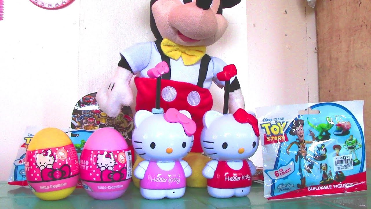 Toy Story Hello Kitty Surprise Eggs Mickey Mouse Clubhouse Dancing Mickey Power Rangers Surprise