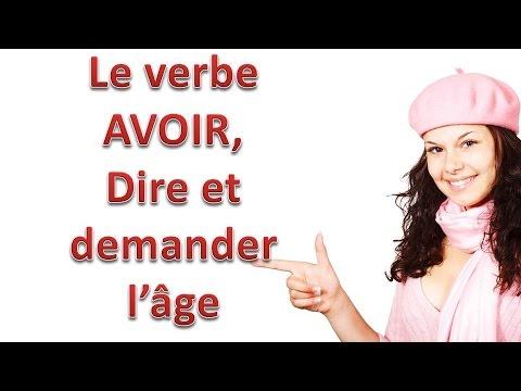 Download Le verbe Avoir, demander et dire l'âge