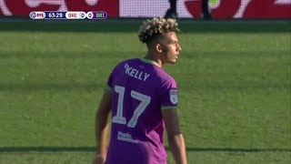 Lloyd Kelly Playing CB Against Brentford • 2018/19