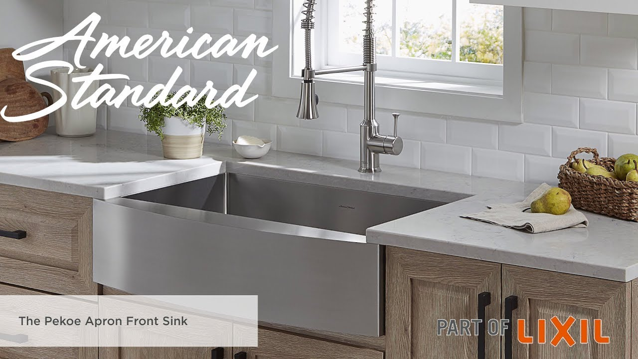 The Pekoe Apron Front Kitchen Sink From American Standard - YouTube
