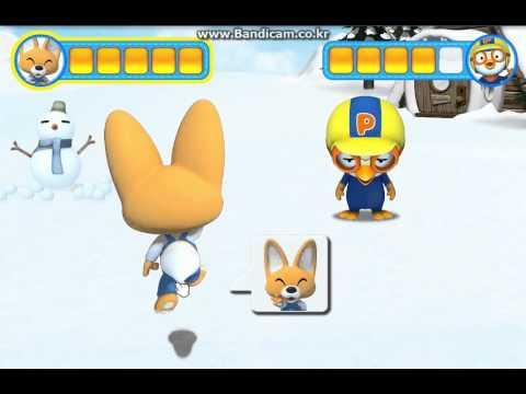 눈싸움( snowball fight ) - 뽀로로게임, 플래쉬게임, 뽀로로동영상, Pororo game, flash game