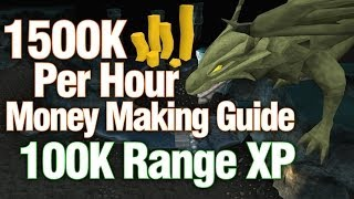 Runescape 3 - 1.5M Per Hour Money Making Guide + 100k Range EXP - Brutal Green Dragons
