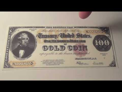 1922 US $100 Gold Certificate