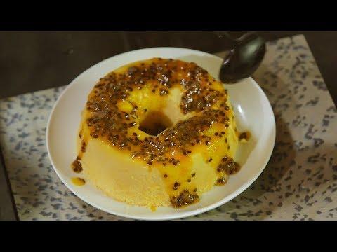 Bolo de Coco e Maracujá: Brazilian soft and creamy coconut and passion fruit cake
