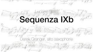 Sequenza IXb by Luciano Berio (Derek Granger, saxophone)