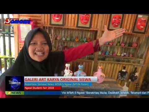 GALERI ART in Ngawi Student Fair 2018 By Reportase Samawi News