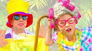 ناستيا وبابا صنعت فساتين جديدة للحفلة