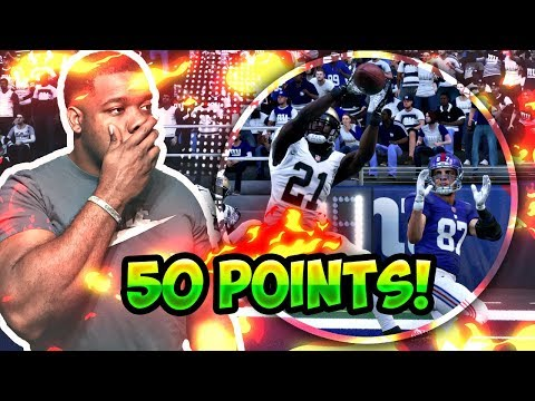 MADDEN NFL 18 DROPPED 50 POINTS! BREAKING THE SCOREBOARD PATRICK PETERSON 3 INTS Gameplay