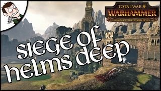Lord of the Rings meets Total War WARHAMMER?! Siege of Helms Deep Custom Mod Map Gameplay