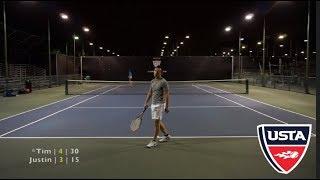 Tennis with Justin - USTA 4.5 LA Singles Highlights HD