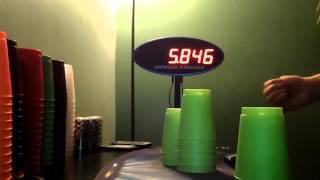 Sport Stacking New Cycle Record 5.846