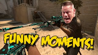 CS:GO FUNNY MOMENTS - AWP FRONTSIDE MISTY , JOHN CENA ,EPIC CLUTCHES & FAILS (Funtage)