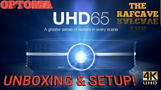 UNBOXING & Setup of the OPTOMA UHD65 4K Projector!