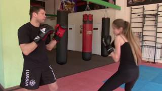 Урок 3. Защита от прямых ударов руками.