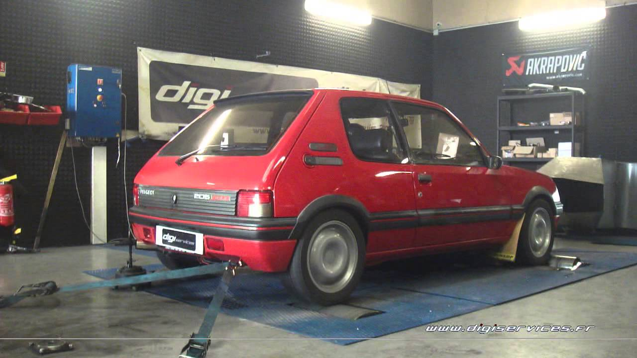 reprogrammation moteur peugeot 205 gti 130cv 137cv youtube. Black Bedroom Furniture Sets. Home Design Ideas