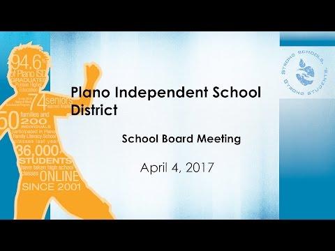 Plano ISD School Board Meeting - April 4, 2017
