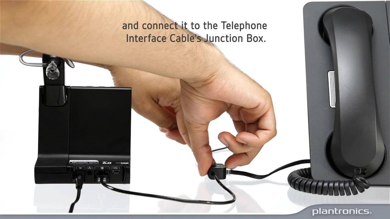 Savi 700 Series How To Connect To A Desk Phone And How To Use Youtube