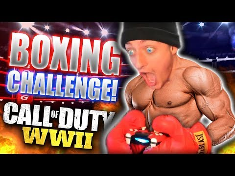 WINNING CALL OF DUTY GUN GAME WITH BOXING GLOVES! *SO INTENSE*