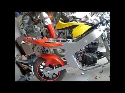 Como Fabricar una Moto pistera a mano  YouTube