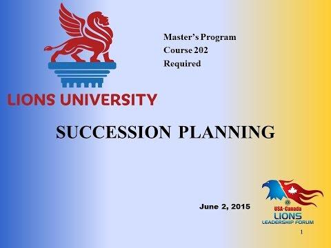 LU Course 202:  Succession Planning
