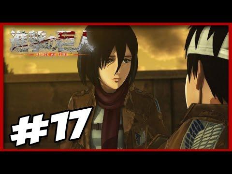 Attack On Titan PS4 - Story Mode #17 - MIKASA/LEVI  VS TITAN FÊMEA!!    [PT-BR]