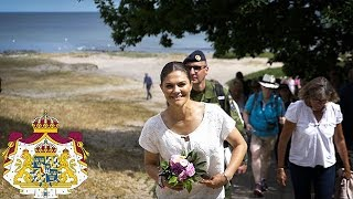 Kronprinsessan vandrar i Skåne