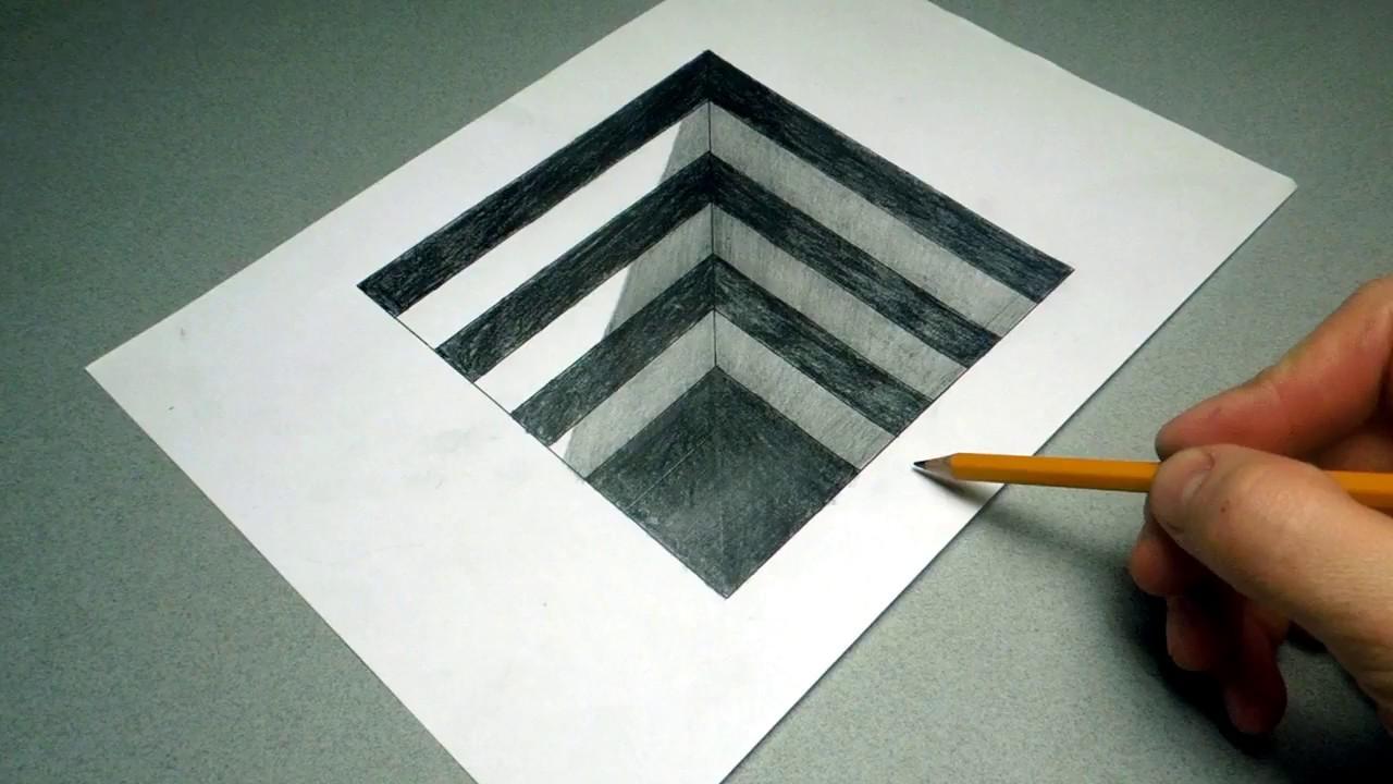 иллюзия рисунки карандашом для начинающих поэтапно чашечку