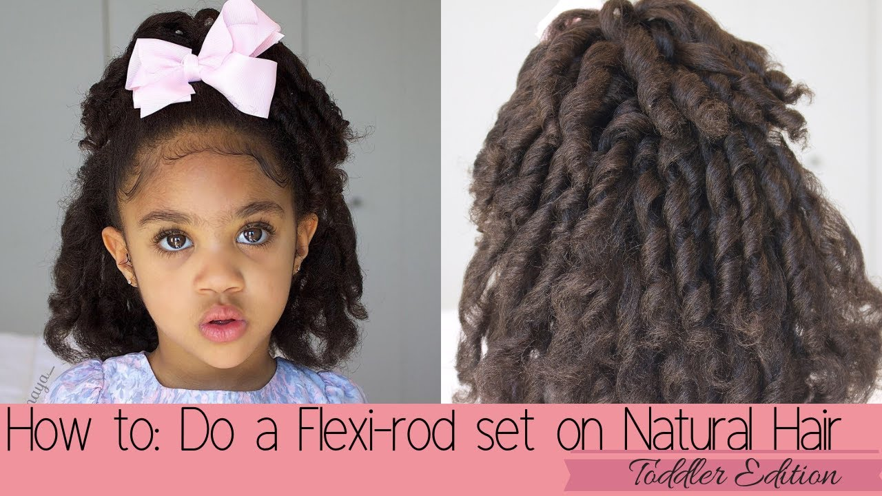 Flexi Rod Set On Natural Toddler Hair Heat Free Curls Easy