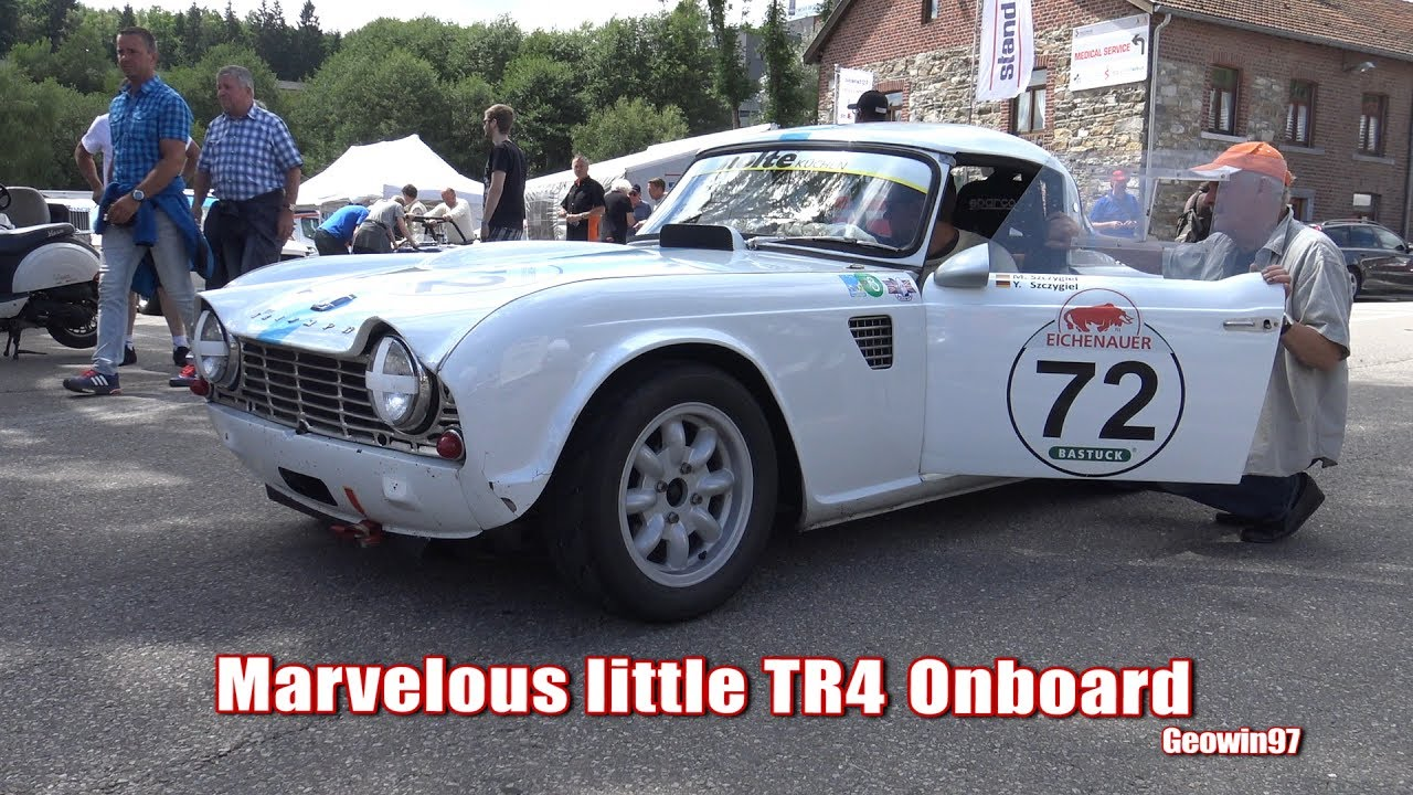 Onboard Triumph Tr4 At Its Best At Spa Summer Classic 2017 Youtube