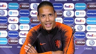 Virgil Van Dijk Full Pre Match Press Conference Netherlands V England Nations League Semi Final