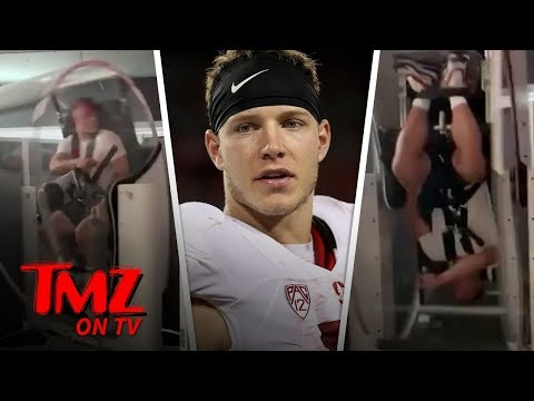 NFL Player Uses Crazy Training Contraption To Work On His Game | TMZ TV