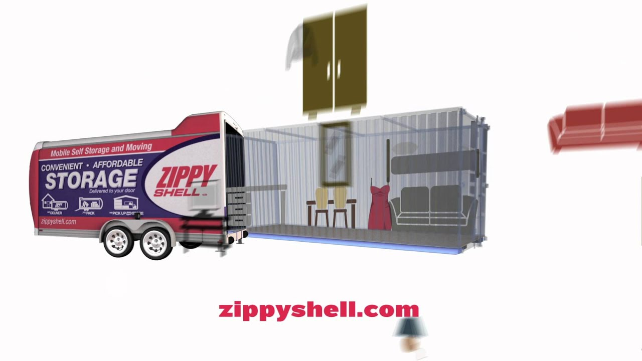 Beau Plano Storage Unit Zippy Shell TV Commercial