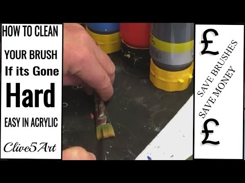 How To Clean a Hard Brush Acrylic Painting
