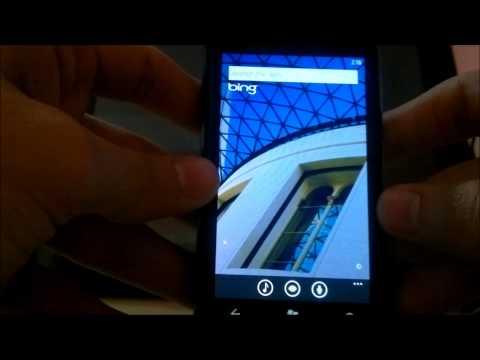 Lumia 800- Bing Search