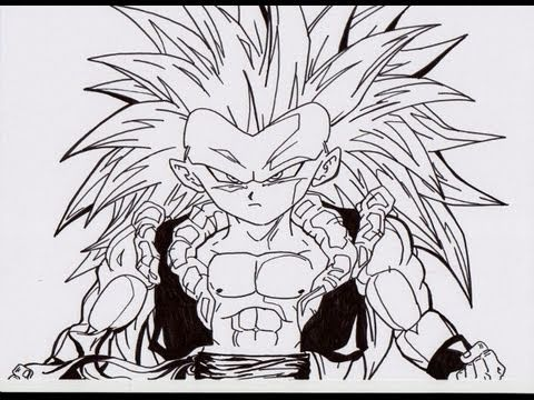 HOW TO DRAW GOTENKS SS3 ゴテンクス 超サイヤ人 3