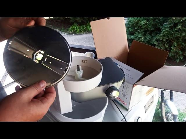 Bosch MUM5 konyhairobotgèp műanyag tàlba szeletelès MUZ5KR1