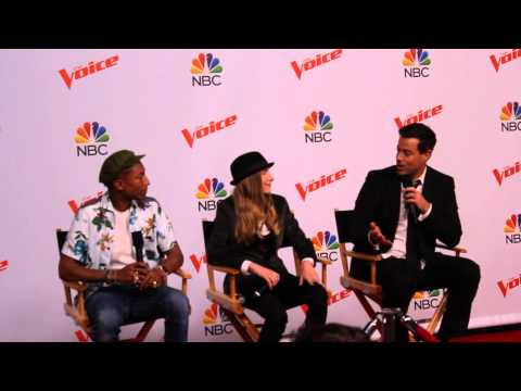 The Voice Champion Sawyer Fredricks, Pharrell William & Carson Daly (Part 1)