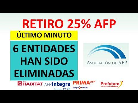 Retiro del 25% AFP | 6 entidades financieras han sido eliminadas del proceso de registro
