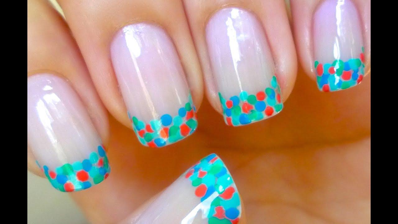 Artesanato Quilling ~ Unhas Francesinha Colorida Nail Art YouTube
