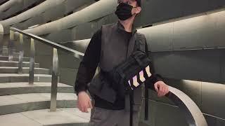 심플 물결 기하학 패턴 남녀 크로스백 휴대폰 가방