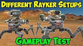 New Test Server War Robots: RAYKER Gameplay - Different Setups WR